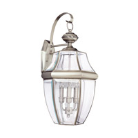 Lancaster 3 Light 23 inch Antique Brushed Nickel Outdoor Wall Lantern