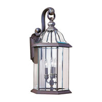 Sea Gull Lighting Barclay 3 Light Outdoor Wall Lantern in Antique Bronze 8052-71 photo thumbnail