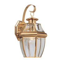 Sea Gull 8067-02 Lancaster 1 Light 14 inch Polished Brass Outdoor Wall Lantern