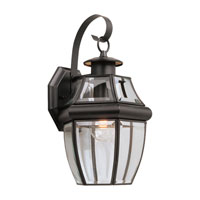 Sea Gull Lighting Lancaster 1 Light Outdoor Wall Lantern in Black 8067-12
