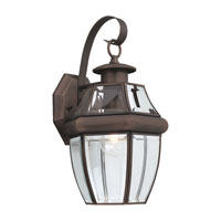 Sea Gull Lighting Lancaster 1 Light Outdoor Wall Lantern in Antique Bronze 8067-71
