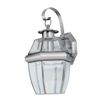 Sea Gull Lighting Lancaster 1 Light Outdoor Wall Lantern in Antique Brushed Nickel 8067-965