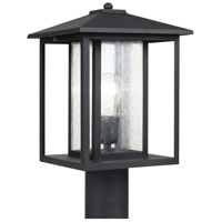 Sea Gull 82027-12 Hunnington 1 Light 15 inch Black Outdoor Post Lantern