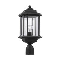 Sea Gull Lighting Kent 1 Light Outdoor Post Lantern in Black 82029-12