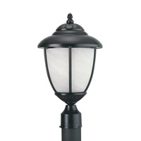 Yorktown 1 Light 17 inch Black Outdoor Post Lantern