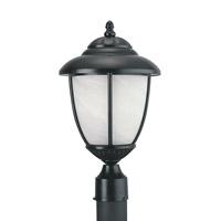 Sea Gull 82048PEN3-12 Yorktown 1 Light 17 inch Black Post Lantern