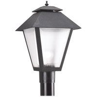 Polycarbonate 1 Light 18 inch Black Post Lantern