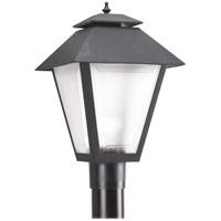 Sea Gull 82065EN3-12 Polycarbonate 1 Light 18 inch Black Post Lantern