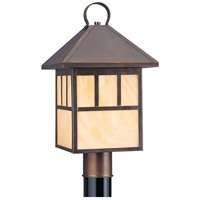 Sea Gull Lighting Prairie Statement 1 Light Outdoor Post Lantern in Antique Bronze 8207-71