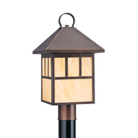 Sea Gull 8207EN3-71 Prairie Statement 1 Light 19 inch Antique Bronze Post Lantern