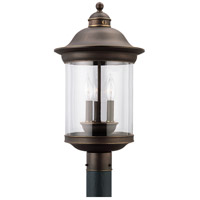 Hermitage 3 Light 20 inch Antique Bronze Outdoor Post Lantern