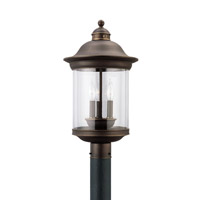 Sea Gull 82081EN-71 Hermitage 3 Light 20 inch Antique Bronze Outdoor Post Lantern