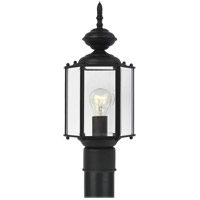 Classico 1 Light 16 inch Black Outdoor Post Lantern