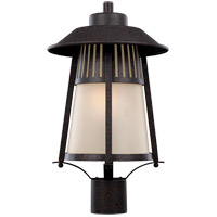 Hamilton Heights 1 Light 19 inch Oxford Bronze Outdoor Post Lantern in Fluorescent