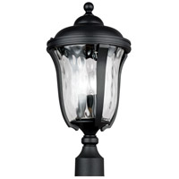 Sea Gull 8214203EN-12 Perrywood 3 Light 20 inch Black Post Lantern