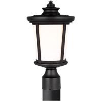 Sea Gull 8219301-12 Eddington 1 Light 15 inch Black Outdoor Post Lantern