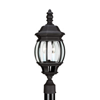 Wynfield 2 Light 23 inch Black Ourdoor Post Lantern
