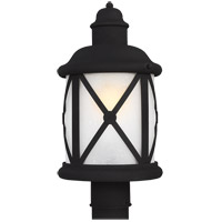 Sea Gull Lakeview 1 Light Outdoor Post Lantern in Black 8221401BLE-12