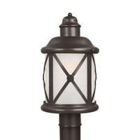 Lakeview 1 Light 16 inch Antique Bronze Outdoor Post Lantern