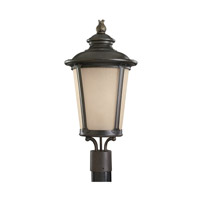 Cape May 1 Light 23 inch Burled Iron Post Lantern