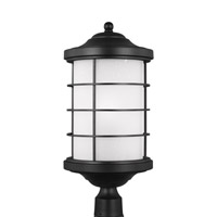 Sauganash 1 Light 22 inch Black Post Lantern