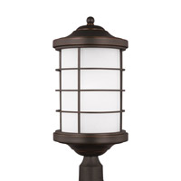 Sea Gull 8224451EN3-71 Sauganash 1 Light 22 inch Antique Bronze Post Lantern