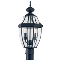 Sea Gull Lighting Lancaster 2 Light Outdoor Post Lantern in Black 8229-12