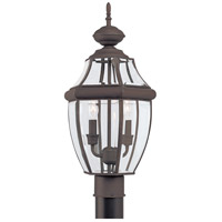 Sea Gull 8229-71 Lancaster 2 Light 22 inch Antique Bronze Outdoor Post Lantern photo thumbnail