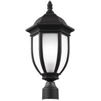 Sea Gull 8229301-12 Galvyn 1 Light 21 inch Black Post Lantern