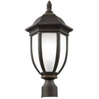 Galvyn 1 Light 21 inch Antique Bronze Post Lantern