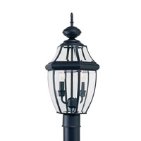 Sea Gull 8229EN-12 Lancaster 2 Light 22 inch Black Outdoor Post Lantern