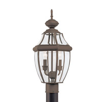 Sea Gull 8229EN-71 Lancaster 2 Light 22 inch Antique Bronze Outdoor Post Lantern
