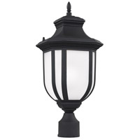 Sea Gull 8236301-12 Childress 1 Light 21 inch Black Outdoor Post Lantern