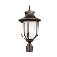Childress 1 Light 21 inch Antique Bronze Outdoor Post Lantern in Fluorescent