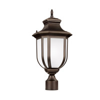 Childress 1 Light 21 inch Antique Bronze Outdoor Post Lantern
