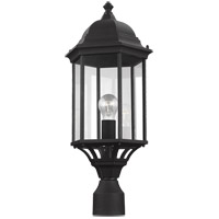 Sea Gull 8238701-12 Sevier 1 Light 22 inch Black Outdoor Post Lantern
