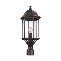 Sea Gull 8238701-71 Sevier 1 Light 22 inch Antique Bronze Outdoor Post Lantern