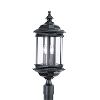 Hill Gate 3 Light 24 inch Black Ourdoor Post Lantern