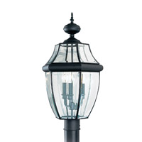 Sea Gull 8239EN-12 Lancaster 3 Light 24 inch Black Outdoor Post Lantern