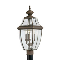 Lancaster 3 Light 24 inch Antique Bronze Ourdoor Post Lantern