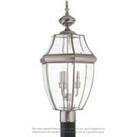 Sea Gull 8239EN-965 Lancaster 3 Light 24 inch Antique Brushed Nickel Ourdoor Post Lantern