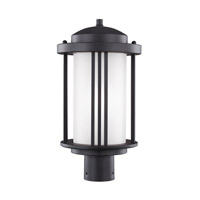 Sea Gull 8247901EN3-12 Crowell 1 Light 17 inch Black Post Lantern