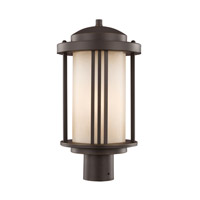 Sea Gull 8247901EN3-71 Crowell 1 Light 17 inch Antique Bronze Post Lantern