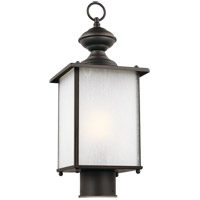Sea Gull 82570-71 Jamestowne 1 Light 17 inch Antique Bronze Post Lantern