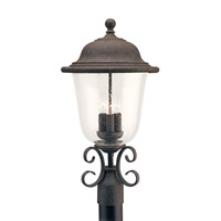 Trafalgar 3 Light 23 inch Oxidized Bronze Ourdoor Post Lantern