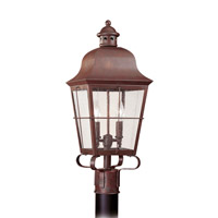 Chatham 2 Light 23 inch Silver Ourdoor Post Lantern