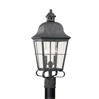 Chatham 2 Light 23 inch Oxidized Bronze Ourdoor Post Lantern