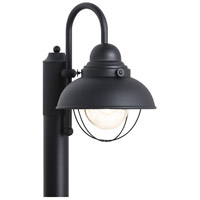 Sea Gull 826991S-12 Sebring 16 inch Black Outdoor Post Lantern