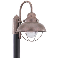 Sea Gull Lighting Sebring 1 Light Outdoor Post Lantern in Weathered Copper 8269-44