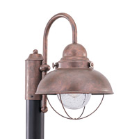 Sea Gull Sebring Outdoor Post Lantern in Weathered Copper 826991S-44